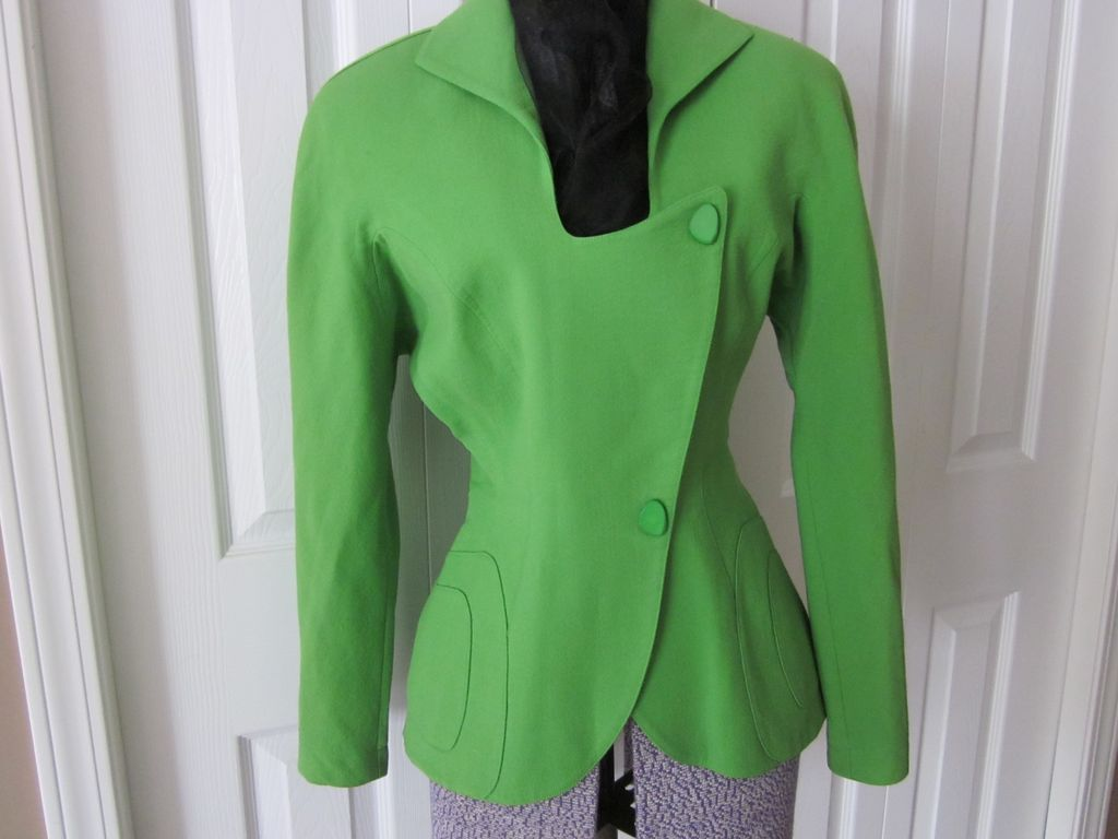Fabulous, Luscious Lime  Designer Jacket by Thierry Mugler