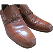 Rare handmade John McHale leather loafers