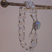 Beautiful Crystal Aurora Borealis Beaded Bracelet