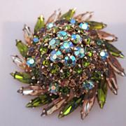 Glamorous Pinwheel Style Beau Geste Brooch