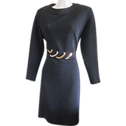 Retro 80s Braemer Dress With Snake Accent