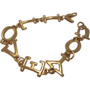 Signed Park Lane I Love You Bracelet