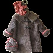 1930's Faux Fur Doll Coat