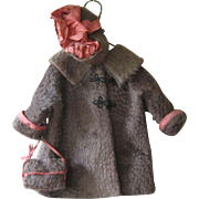 1930's Faux Fur Doll Coat
