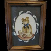 Cute Teddy Bear Print in a Frame