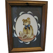 Cute Teddy Bear Print in a Frame