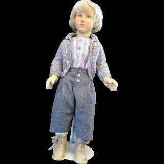 Sandreuter, Regina Boy 8 part wooden doll