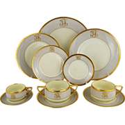 Art Deco Dresden Ambrosius Lamm Dinner Set Service for 8