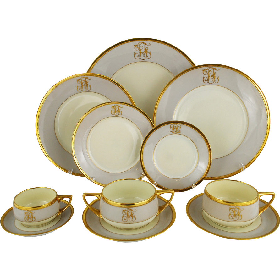 art deco dresden ambrosius lamm dinner set service for 8 from