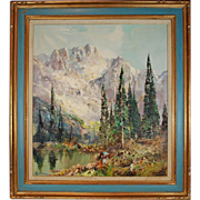 Vintage Landscape Painting Oil on Canvas, Ingfried Henze/ Paul Morro