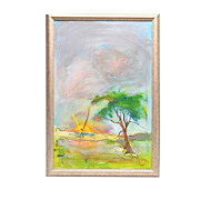 Framed Contemporary Landscape Painting, Finley