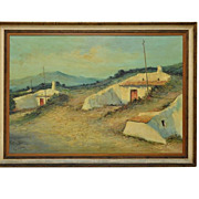 Vintage Landscape Painting  Oil on Canvas