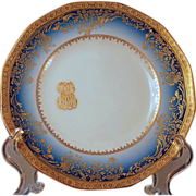 Dinner Set for 12 Limoges Haviland Cobalt Gold Service, Presidential China second edition