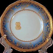 Dinner Set for 12 Limoges Haviland Cobalt Gold Service, Presidential China second edition