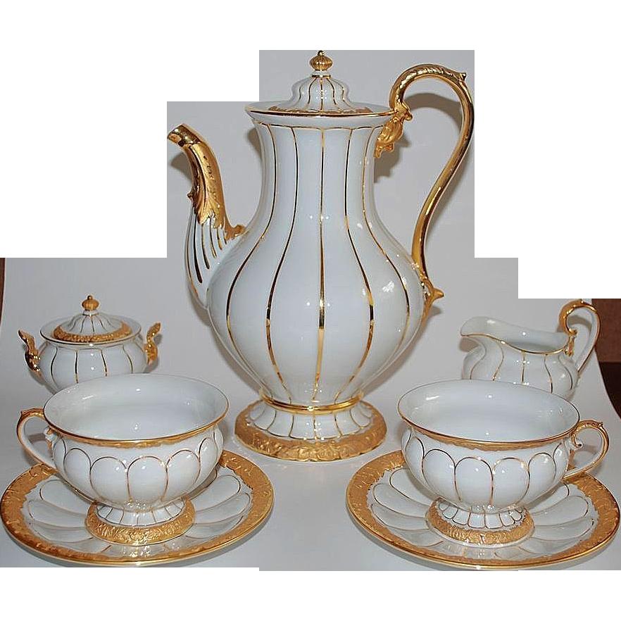 Meissen Coffee Set For 12 Tea Service Raritet Antique