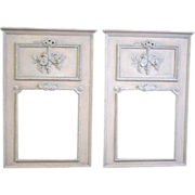 Pair of Vintage Trumeau Mirrors Neoclassical Style