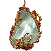 Arthur King Pendant Jewelry Freeform 18K Gold Ruby