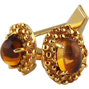 Vintage 14K Gold Citrine Cufflinks