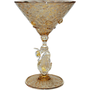 Venetian Glass Martini Stem Swan Vintage, 2 of 3