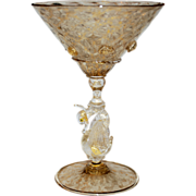 Venetian Martini Glass Murano Stemware,  3 of 3