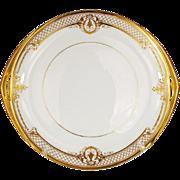 Rosenthal Dresden Cake Plate Platter Raised Gold Vintage