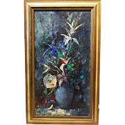 Paul Morro Ingfried Henze Oil Canvas Floral Painting Still Life