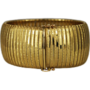 Large Wide 14K Gold Bracelet Italy