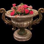 Italian Vintage Wood Vases Planters Painted Jardeniers, circa 1980
