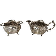 Antique German Silver Creamer Sugar, circa 1880