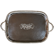 Paul Storr Tray Silver Rectangular ca 1816 Antique