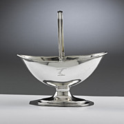 Hester Bateman Sugar Basket, Georgian Silver Sugar Basket