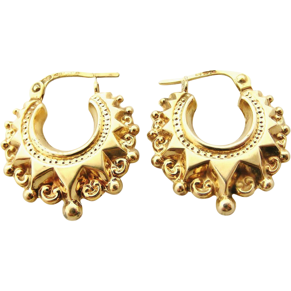Lovely 9k Gold Victorian Style Creole Hoop Earrings From. Precious Stone Bangles. Stainless Bangles. Sand Bead Bangles. Gypsy Bangles. Beaded Bangles. Price Bangles. Antique Mens Bangles. African Bangles