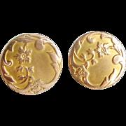French art nouveau 18k gold fill cufflinks Now in my $50 dealer sale !