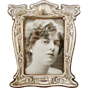 On hold for Marjorie .Huge museum worthy sterling silver art nouveau photo frame John Atkins and Sons, Butterflies and bees