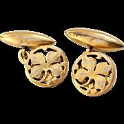 French art nouveau 18k gold fill cufflinks by FIX
