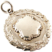 Vintage English sterling silver watch fob