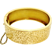 Antique Victorian gold filled hinged bangle