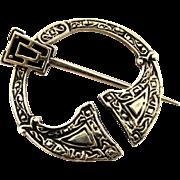 Vintage Scottish silver penannular brooch by Ortak