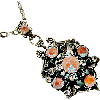 Fabulous French saphiret locket and chain