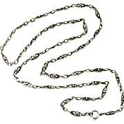 Antique French chain in 800-900 silver 29 inches