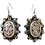 Victorian sterling silver earrings