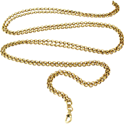 Antique 18k gold filled lorgnette or muff chain 58 inches