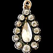 Antique French Georgian paste pendant
