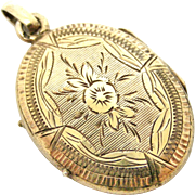 Antique French vermeil oval locket