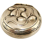 French art nouveau 800-900 silver pill or snuff box