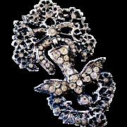 Antique French paste Saint Esprit pendant in hallmarked silver