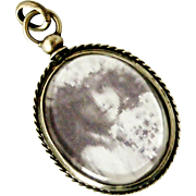 Antique French 800-900 silver screw top oval locket