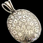 Large antique European 900 silver locket
