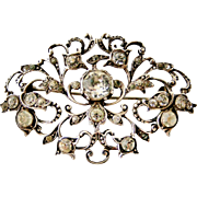 Georgian paste brooch in continental 830 silver
