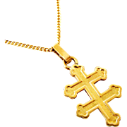French FIX cross of Lorraine on 17 inch chain